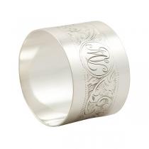 Серебряное кольцо под салфетки