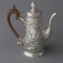 Ирландский серебряный кофейник