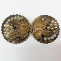 Vintage Floral Leaf Brooch