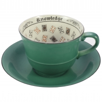 A fortune telling cup and saucer